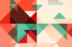 Abstract Flat Geometry Background Set Vector