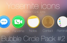 Bubble Circle Yosemite Icon Pack #2