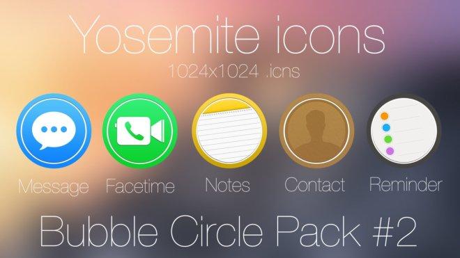 Bubble Circle Yosemite Icon Pack #2