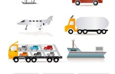Transportation Vehicle Icon Set Vector