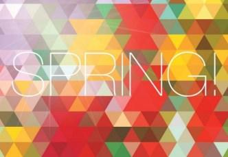 Fresh Spring Geometry Background Vector 05