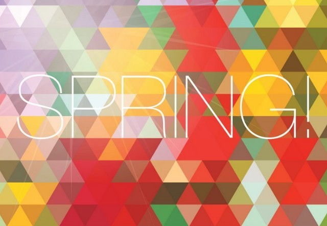 Fresh Spring Geometry Background Vector 05