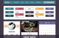 Retro Jam UI Kit PSD