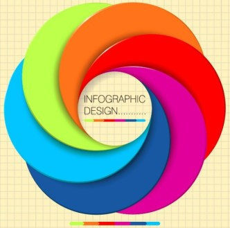 Colorful Abstract Camera Lens Vector