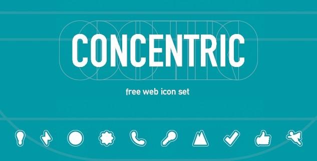 Concentric Web Icon Set