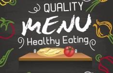 Quality Health Eating Menu Vector