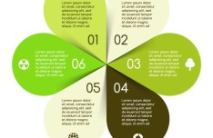 Creative Flower-Style Infographic Template Vector Vol.1