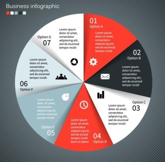Creative Pie Chart Chart Business Infographic Vector