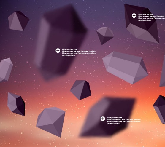 3D Polyhedron Background Vector
