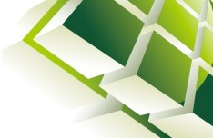 Abstract 3D Cube Background Vector 03