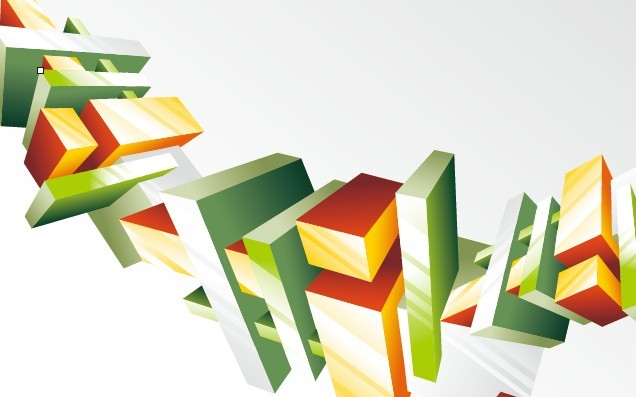 Abstract 3D Cube Background Vector 05