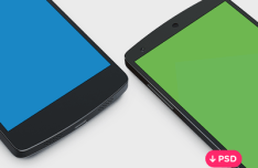 Nexus 5 Side View Template PSD