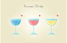 Summer Drinks Icon Set PSD