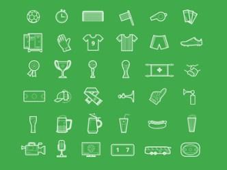 Football Icon Set PSD