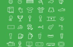 Football Icon Set PSD