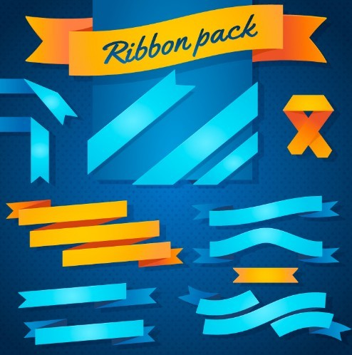 Pretty Colorful Ribbon Pack Vector
