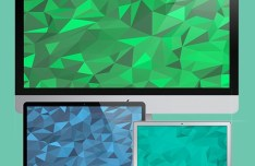 20 Beautiful Flat Geometric Backgrounds