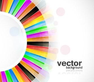 Circular Color Palette Background Vector