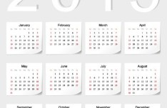 2015 Sticker Calendar Vector