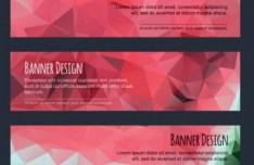 Colorful Low Polygon Banner Design Vector Vol.5
