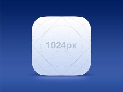 1024x1024px iOS 7 Icon Template PSD