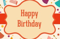 Retro Cartoon Birthday Label Vector