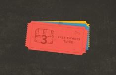 Retro Tickets PSD