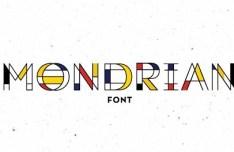 Mondrian Vector Font