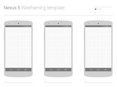 Nexus 5 Wireframing Templates PSD