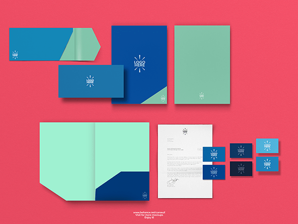 Simple Stationary Mockup Template PSD