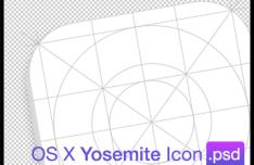 OS X Yosemite Icon Grid Template PSD