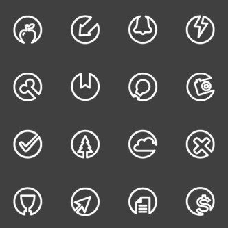 50 Flat Line Icons PSD