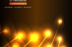 Bright Orange Abstract Curves Background 04