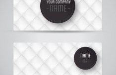 Stylish White Grid Business Card Template Vector
