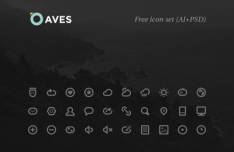 Aves Icon Set (AI+PSD)