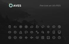 Aves Icon Set (AI+PSD)