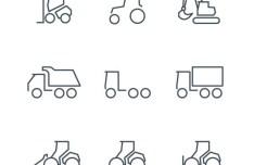 Dirty Tracks Line Icon Set (AI+PSD+Webfont)
