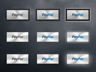 Metal Paypal Buttons PSD