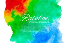 Rainbow Watercolor Splash Background Vector