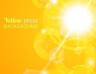 Yellow Sunshine Background Vector