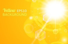 Yellow Sunshine Background Vector