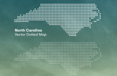 North Carolina Dotted Map Vector
