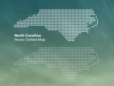 North Carolina Dotted Map Vector