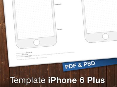 iPhone 6 & Plus Template (PSD+PDF)
