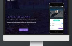 One Page App Promotion Template PSD