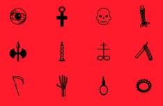 Satan's Icon Set Vector