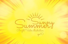 Sunny Summer Bright Vector Illustration