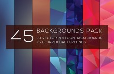 45 Polygon & Gradient Backgrounds Pack
