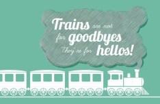 Trains Travel Vector Illustration