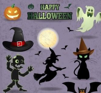 Vector Happy Halloween Design Elements